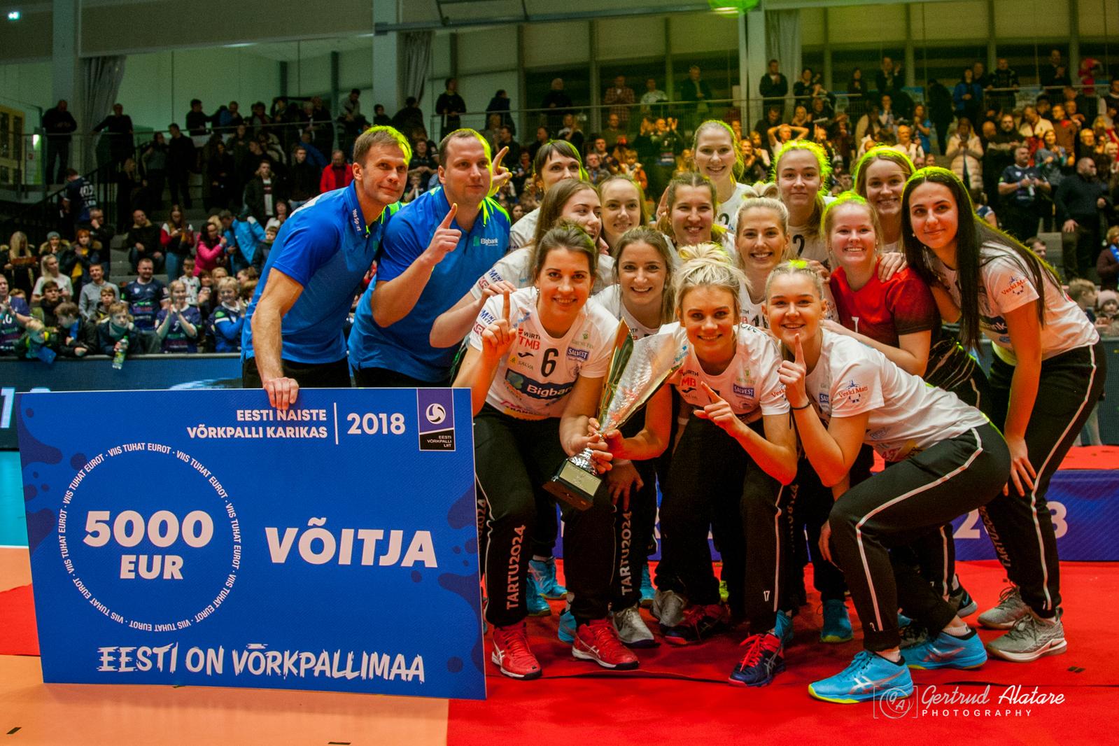 Teist aastat järjest on TÜ/Bigbank naiskond Eesti Karikavõitja 2018! Lisatud video!